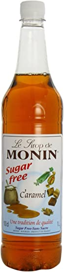 Monin Caramel Syrup Sugar Free 1ltr And Pump Amazon Co Uk Grocery
