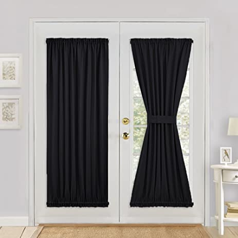 Amazon Blackout French Door Curtain For Privacy Pony Dance