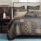 Tache 2 Piece Royal Chambers Patchwork Floral Quilt Set, Twin