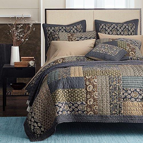 queen patchwork quilt set - 5