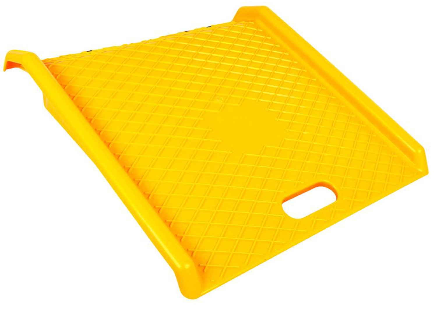 Curb Ramp - Heavy Duty 1000 Lbs Load Capacity - Yellow High Density Polyethylene for Hand Truck Delivery by BUNKERWALL (Image #1)