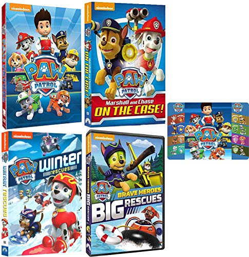 Paw Patrol: Ultimate Rescue 4 DVD Collection with Bonus Art Card (Marshall & Chase on the Case / Brave Heroes Big Rescues and More) (Christmas Card Transport)