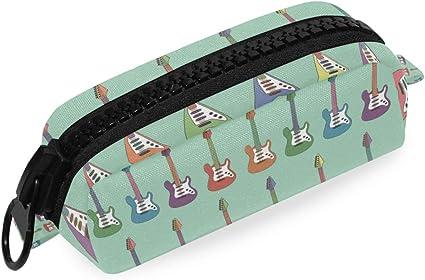 Estuche de lápices Bolsa Colorido Bolso de guitarra eléctrica Bolsillo Cartera de cremallera grande de alta calidad: Amazon.es: Oficina y papelería