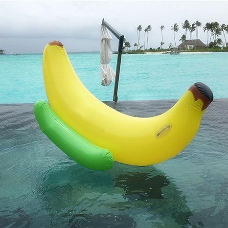 Juguete inflable gigante del flotador de la piscina del plátano, flotador inflable del paseo del