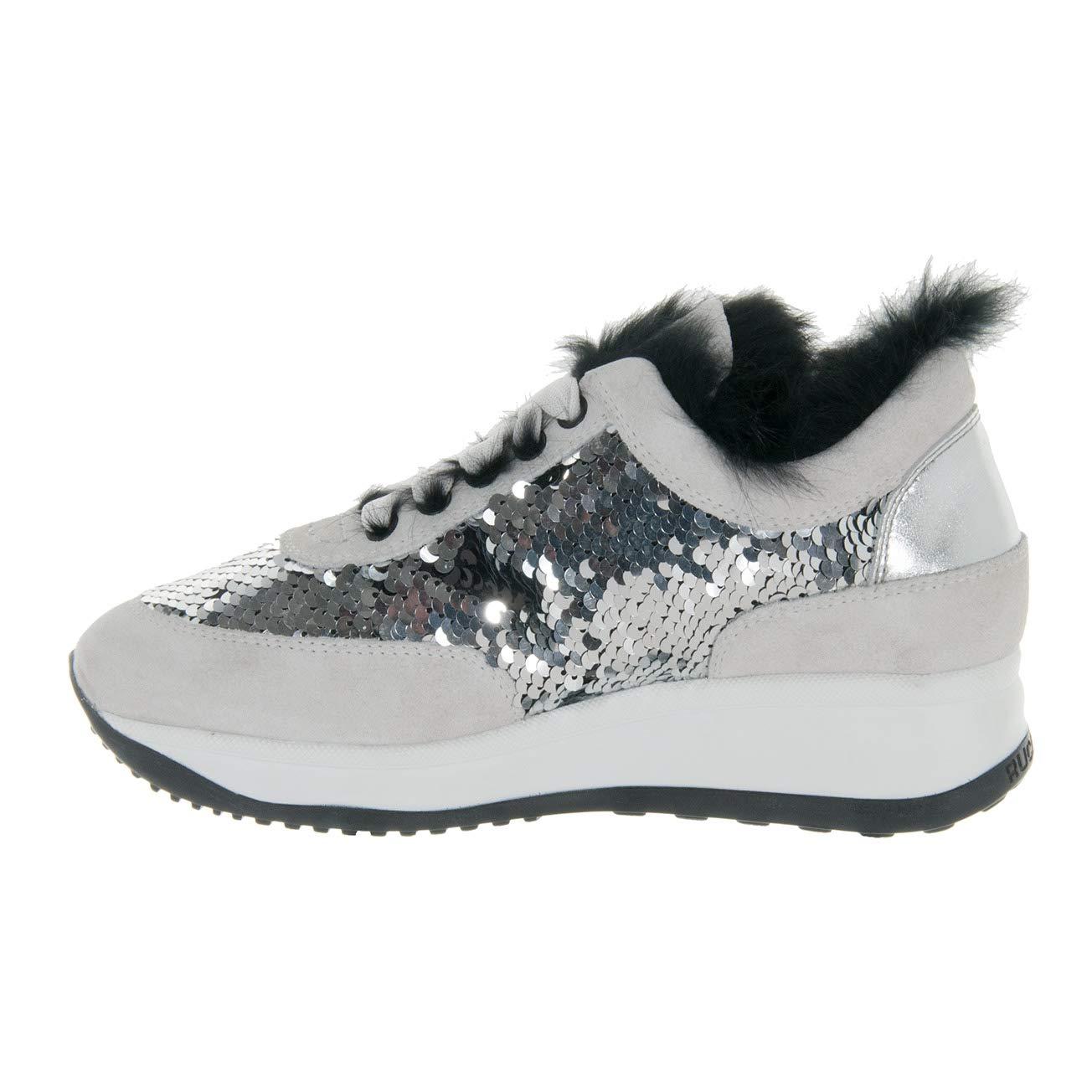 AGILE BY RUCOLINE Scarpe Donna Sneaker CAMOSCIO Paillettes Silver Tex Soft  1304 N° 35  Amazon.it  Scarpe e borse 70941b3017a