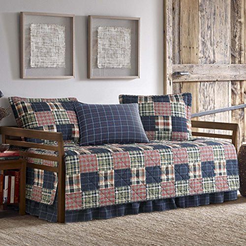 Eddie Bauer Madrona 5-Piece Daybed Cover Set Twin Red