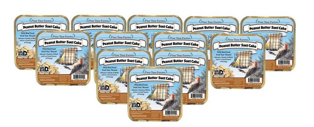 Pine Tree Farms 12 Pack Peanut Butter Suet Cake 12 oz. 1110 Made in USA