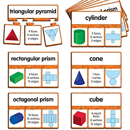 EAI Education Snap Math - 3D Shapes Puzzle: Grades 3-4