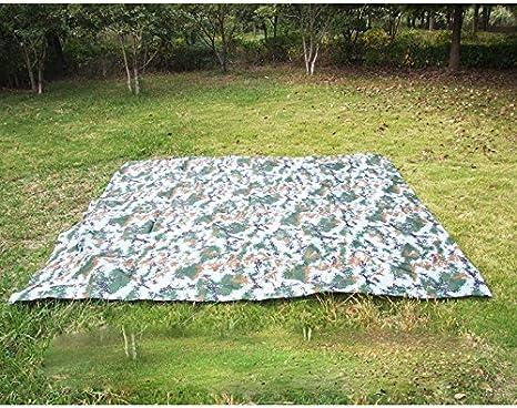 3 M * 3 M playa ultraligero alfombrilla playa tienda de campaña toldo Pergola toldo lona Camping tela de tierra Sol Refugio de picnic y barbacoa Camping, Camuflaje: Amazon.es: Deportes y aire libre
