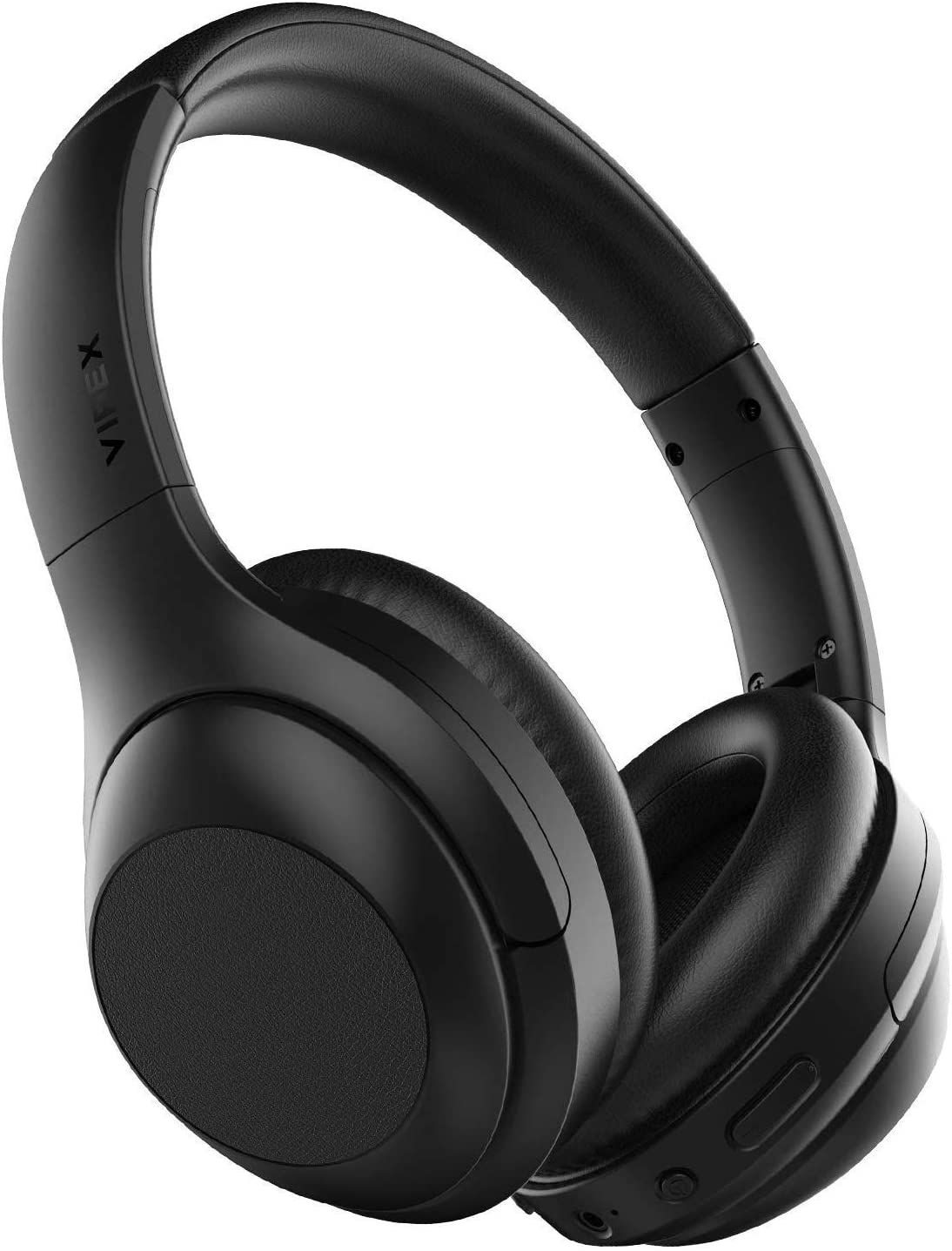 VIPEX Active Noise Cancelling Headphones, Bluetooth 5.0 Headphones Wireless Over Ear Headphones with Microphone, All Day Power with 30 Hours Playtime, Comfortable Protein Earpads Black