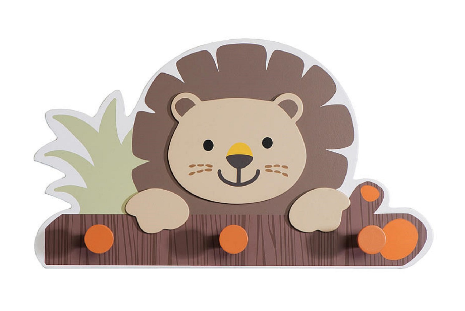 "Babies""R""Us Safari Wooden Baby Boy Lion Wall Decor Brown"