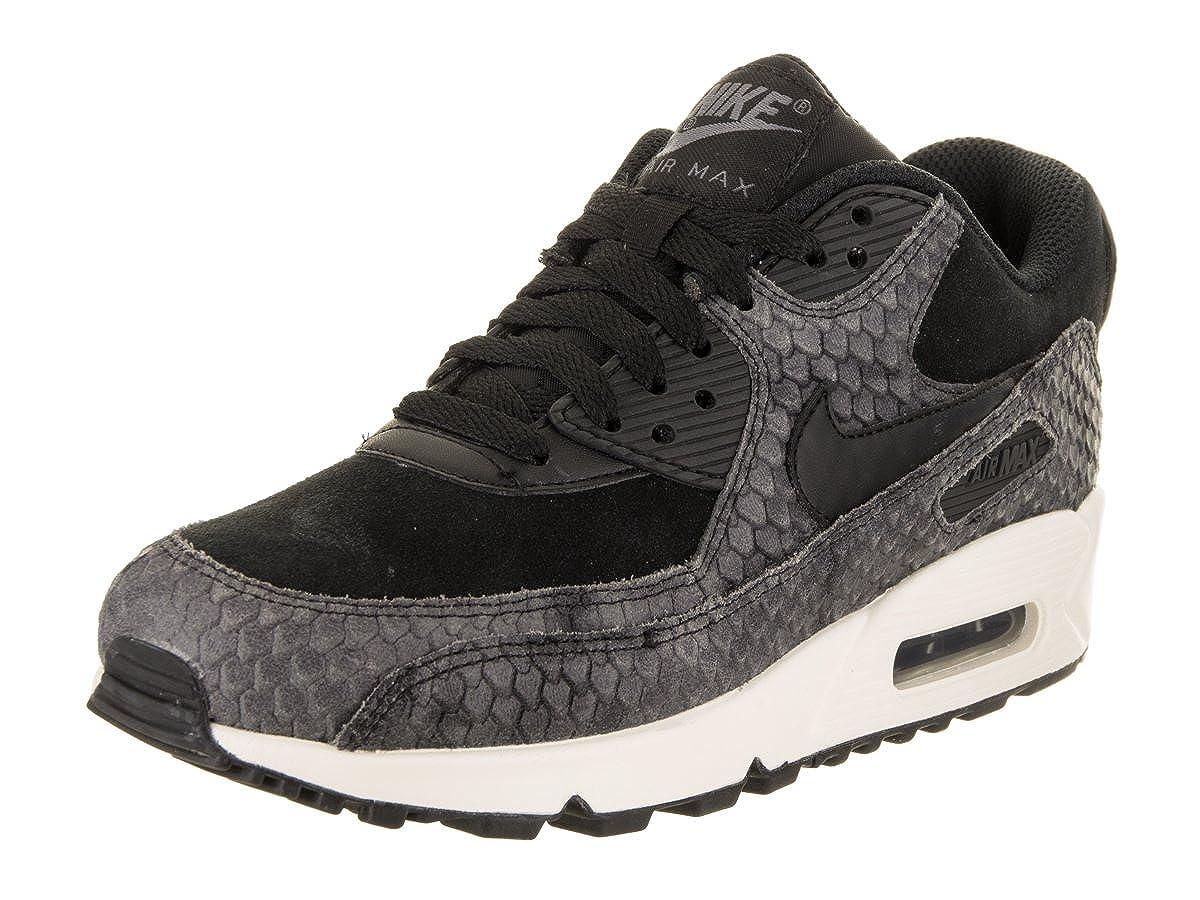cheap for discount 7ab81 7b7a6 Amazon.com   896497-005 WOMEN WMNS AIR MAX 90 PRM NIKE BLACK BLACK-SAIL-DARK  GREY   Fashion Sneakers
