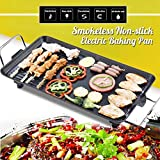 Fragil Tox Grill Plate 220V Hot Plate Electric BBQ Grill Kitchen Teppanyaki Non-Stick Surface 1500W Adjustable Temperature Incredibly Versatile