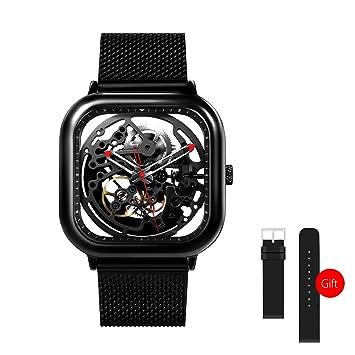 Lixada Xiaomi Hombres Automático Reloj Analógico Mecánico: Amazon.es: Deportes y aire libre