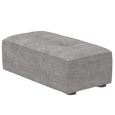 Marca Amazon - Alkove Elvas - Reposapiés bajo para sofá modular, 48 x 93 cm, gris