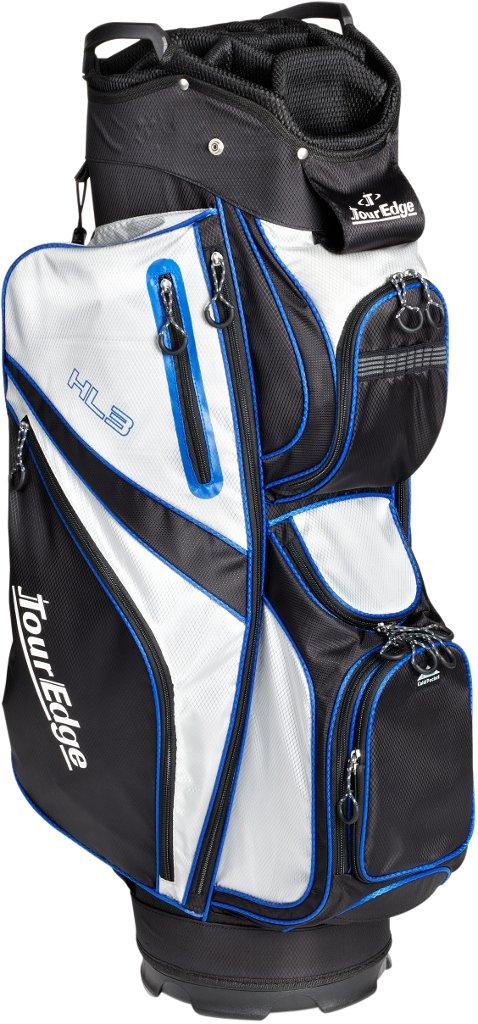 Tour Edge Men's HL3 Cart Bag, Black/Silver/Royal