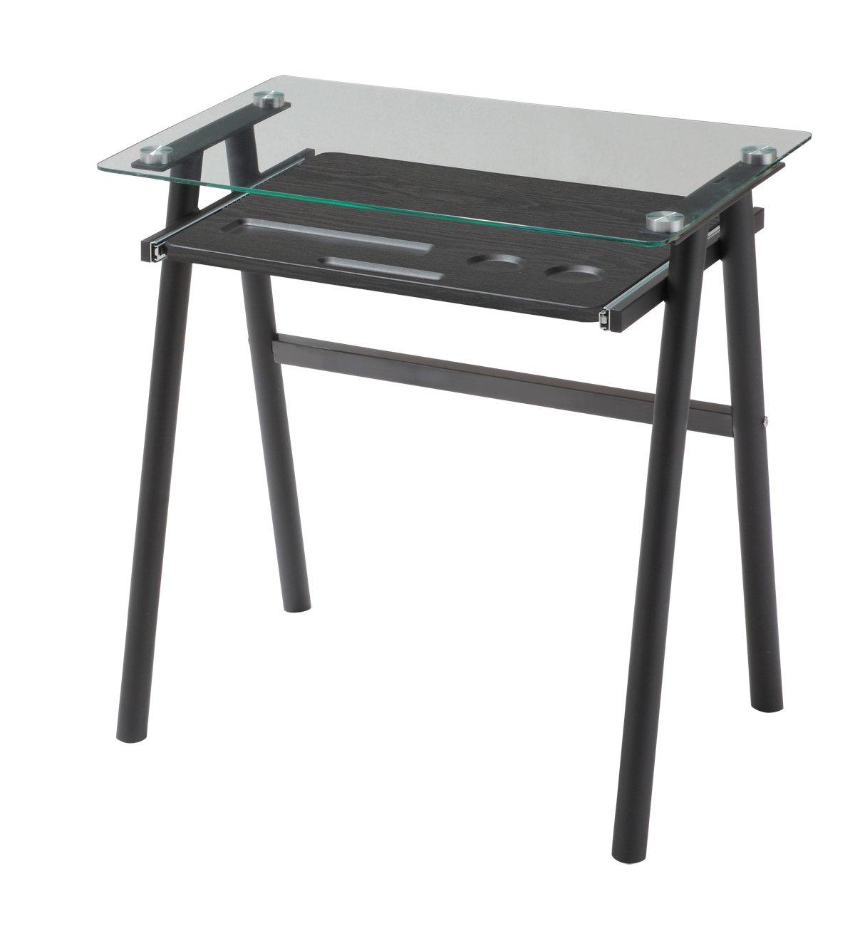 あずま工芸 トリスタ ガラスデスク 幅70cm ガラス天板 ブラック EDG-1979 B01HMCR5FQブラック