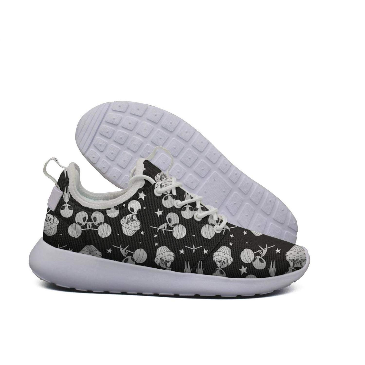 Lollipop Alien Stars UFO Ice Cream Food Desserts Ladies Sneakers for Women Sports Highly Breathable Running Shoes for Girls