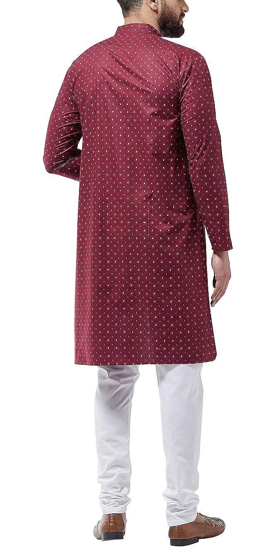 Bollywood-Indian-Kurta-Pajama-Dress-Tunic-Printed-Top-Men-Kurta-Ethnic-Wear thumbnail 16