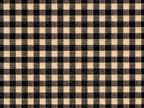 BLACK GINGHAM Kraft Tissue Paper240~20