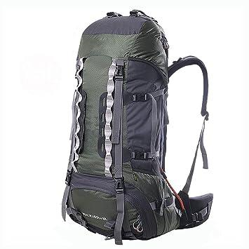 XYW-0006 Mochila para montañismo de 80 litros Mochila para Exteriores Desmontable Bolsa ergonómica para Hombres Mochila de Escalada para Lluvia con Funda ...