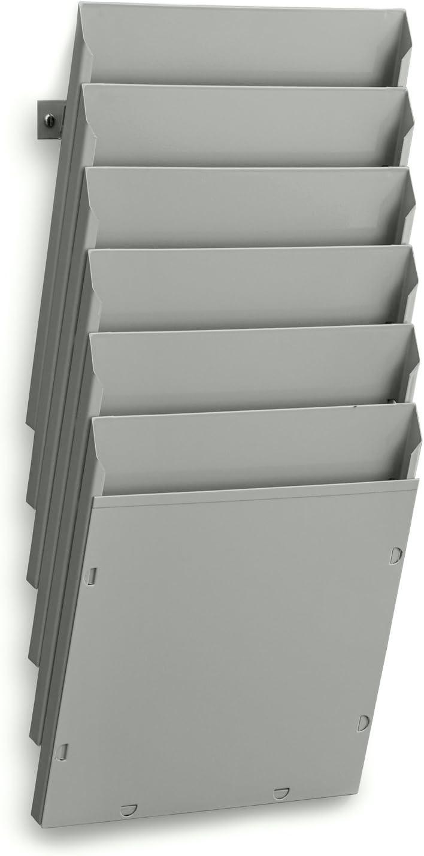 Expositor metálico de pared A4V 6 departamentos - Sistemas David: Amazon.es: Oficina y papelería