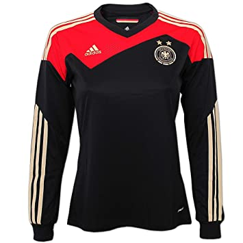 authorized site new styles exclusive range Adidas DFB Germany Women's Shirt, schwarz rot gold, L ...