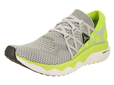 Reebok Women s Floatride Run Ultk Grey Grey Yellow Wht Blk Running Shoe ad3b93e30