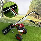 43CC Gas Powered Walk Behind Snow Sweeper Power Brush Sweeper Broom Hand Held Concrete Cleaning Driveway