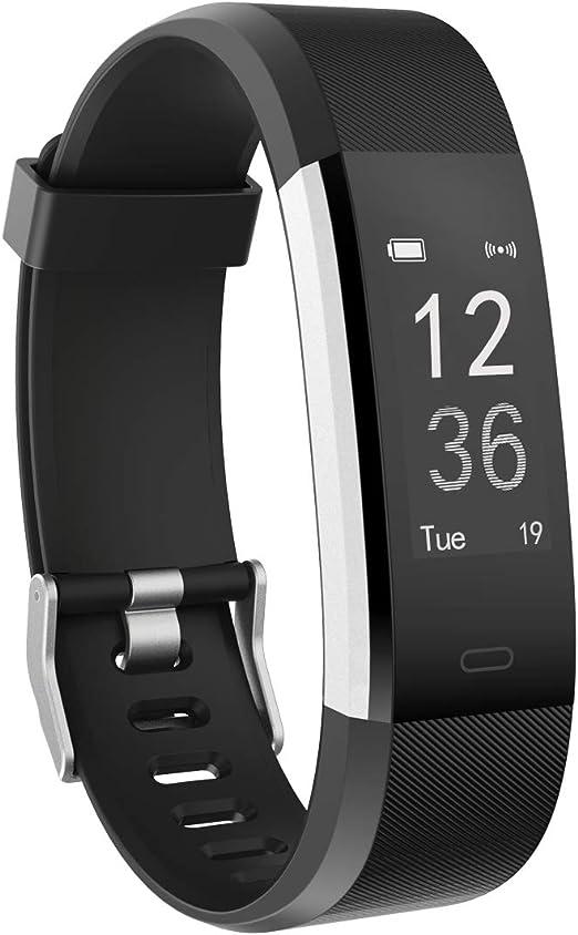 moreFit Podómetro Pulsera, Slim HR Plus Reloj Inteligente Deporte ...