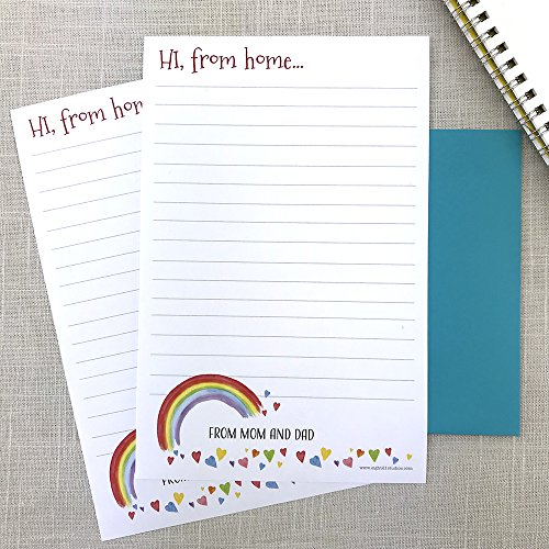 letters from home summer camp letters from mom and dad personalized stationery set camp stationery letter sheets writing paper