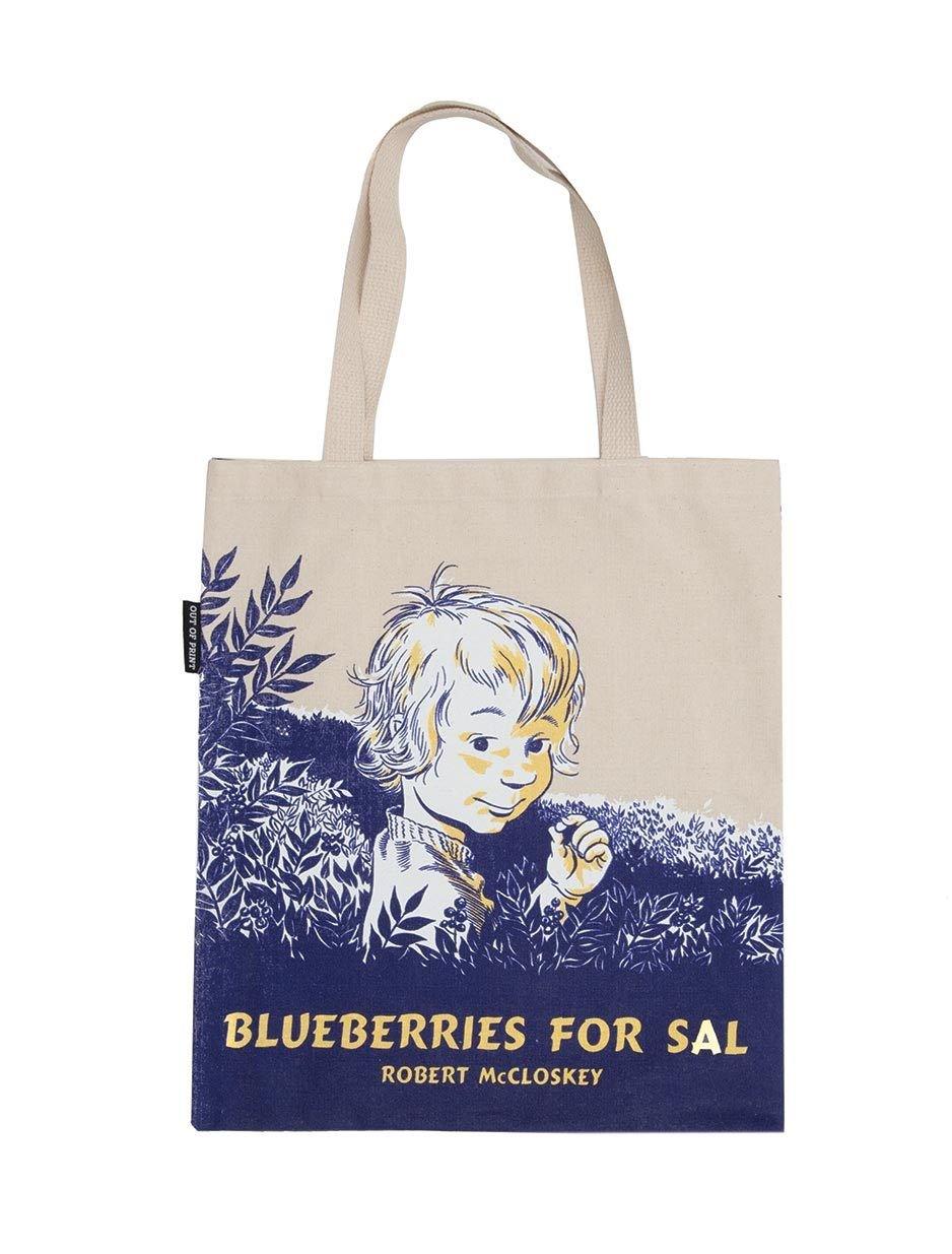 Out of Print Blueberries for Sal Tote Bag, 15 X 17 Inches by Out of Print (Image #1)