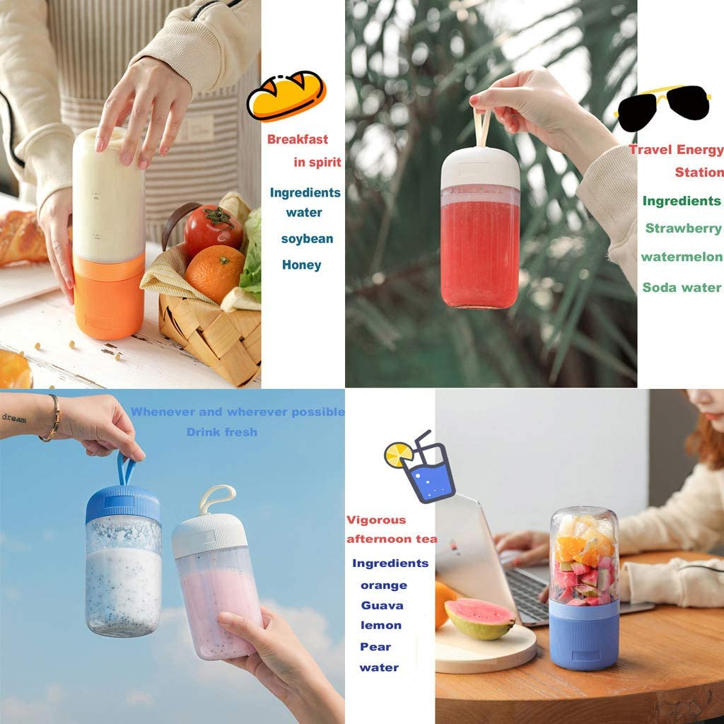 VNEIRW - Mini licuadora portátil para batidos de leche, batidora ...