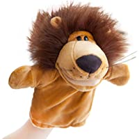 24x7 eMall Hand Puppets Lion Jungle Animal Friends with Working Mouth for Imaginative Play, Storytelling, Teaching, Preschool & Role-Play. (Lion)