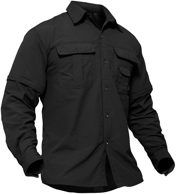 protecci/ón solar 50+ Camiseta de manga larga con protecci/ón UV para hombre TACVASEN
