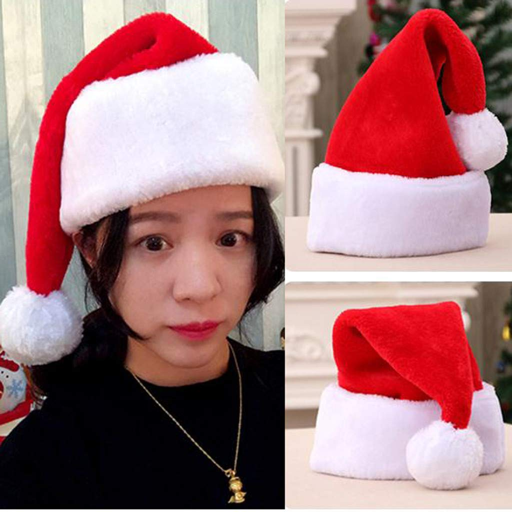 Gift for Family Red YunZyun Funny Christmas Hats Best Gift for Children, Christmas Cap Thick Ultra Soft Plush Cute Santa Claus Holiday Fancy Dress Hat
