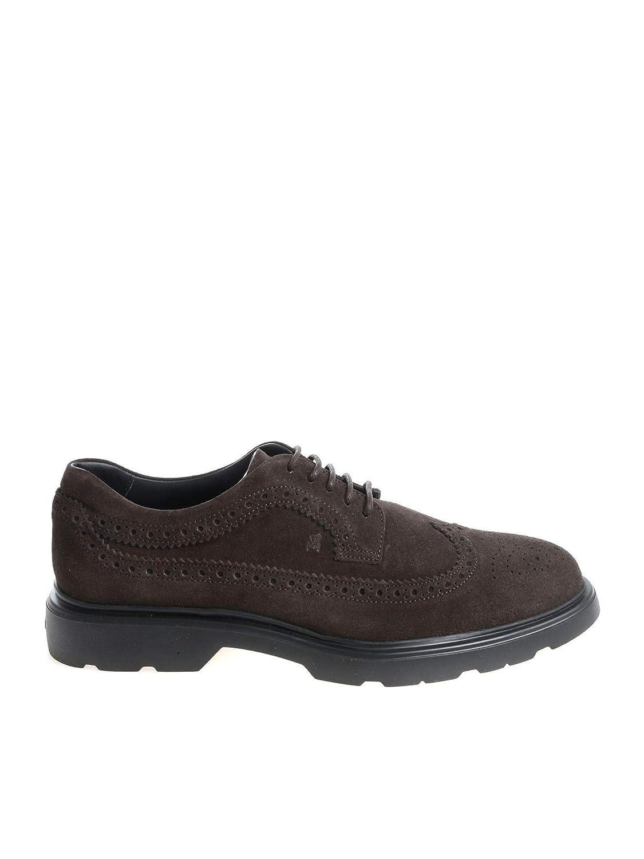 - Hogan Men's HXM3930W362HG0S807 Brown Leather Lace-Up shoes
