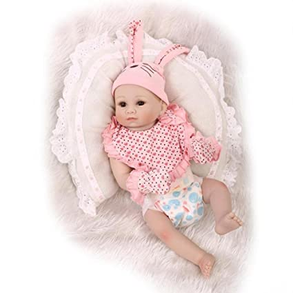 Pinky Realistic 20 Inch 50cm Reborn Baby Doll Real Looking Newborn Dolls Toddler
