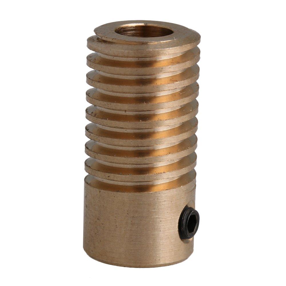 CNBTR 2x9.7x5mm Yellow 0.5 Modulus 5mm Hole Dia Brass Worm Gear Shaft for Driving Gear Box Worm Wheel Industrial Accessory yqltd M6180410047