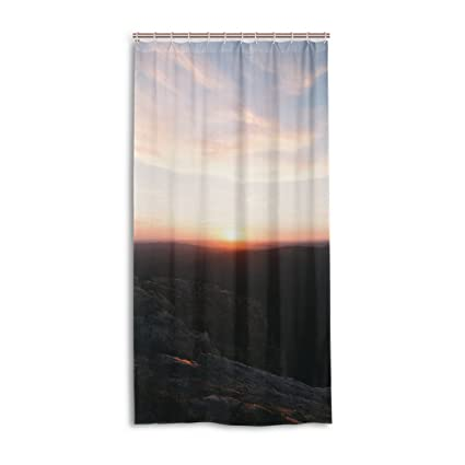 FBTRUST Sunrise Shower Curtain With HooksStandard Size 3672 InchMade Of A Durable