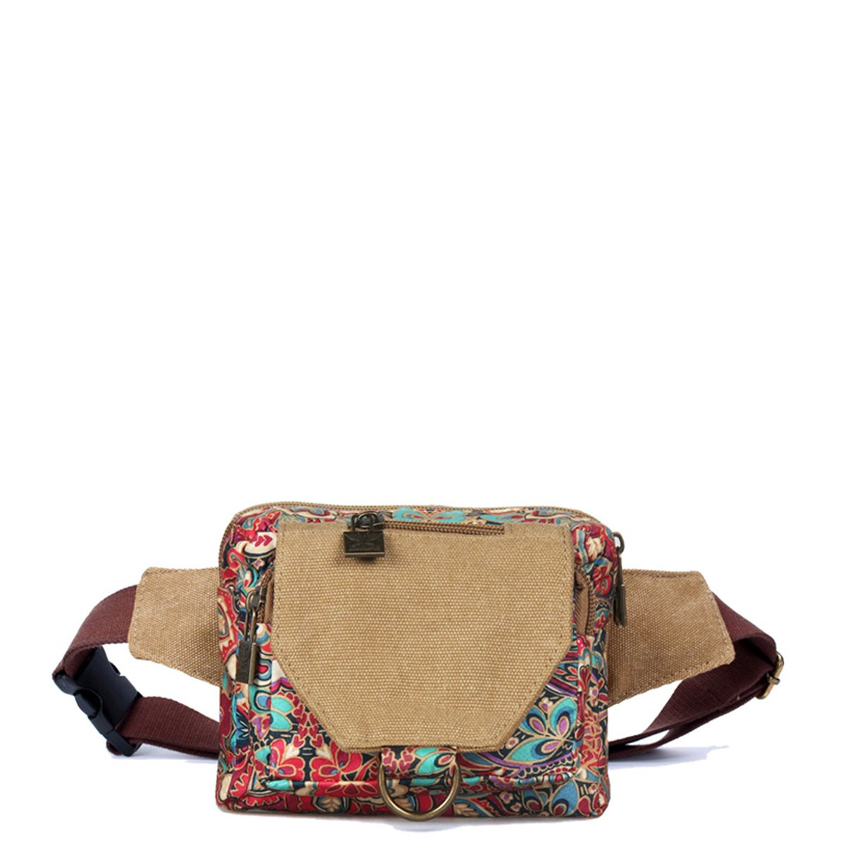 Womens small canvas bag sports bag waist bag wallet for travel sports outdoor,a