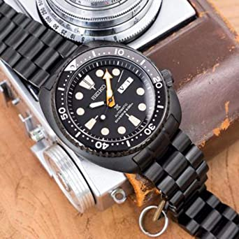 3258eab87d3 Amazon.com  22mm Endmill 316L Stainless Steel Watch Bracelet for Seiko New  Turtles SRPC49K1