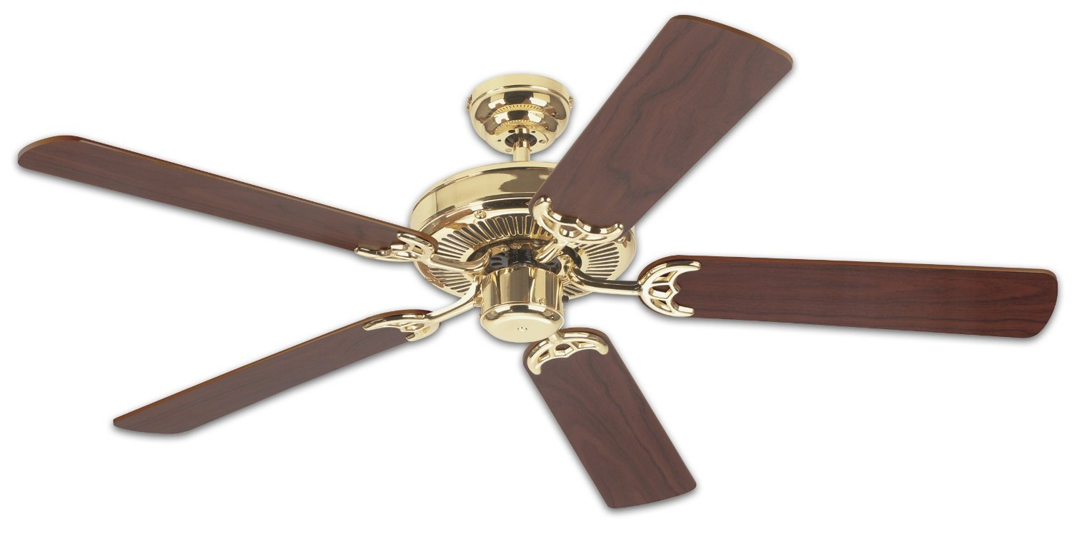 Westinghouse 78021 52-Inch Contractor's Choice Ceiling Fan, Polished Brass