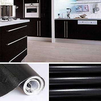 KINLO 5 x 0.61 m Vinilo Pegatina Muebles de Cocina Pantalla PVC Engomada Autoadhesivo Protege o Decora Armario y Aparatos Eléctricos Impermeable Pegatina ...