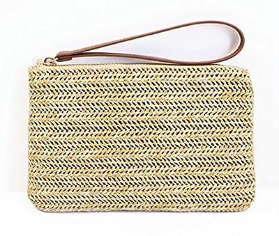 Agneta Women's Hand Wrist Type Straw Summer Beach Sea Handbag