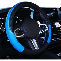 Capa para volante de carro Shiawasena, couro, ajuste universal de 38 cm, antiderrapante e livre de odorSHIAWASENA HB…