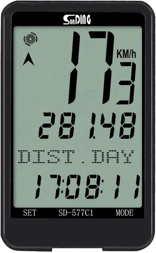SUNDING Wireless Bicycles Computer Monitor Bikes Speedometer Odometer Waterproof