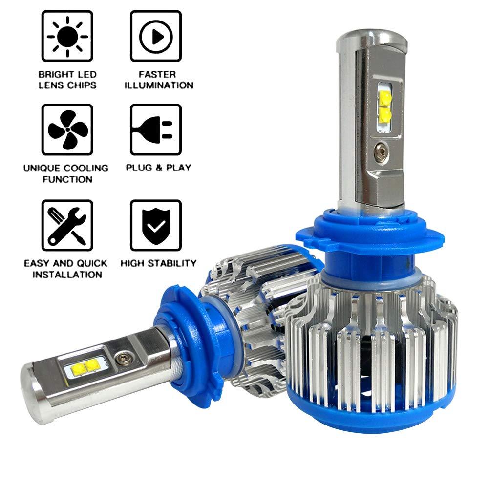 CNSUNNY LIGHT H11/H8/H9 - Bombilla LED para faros delanteros de coche (6000 K): Amazon.es: Coche y moto