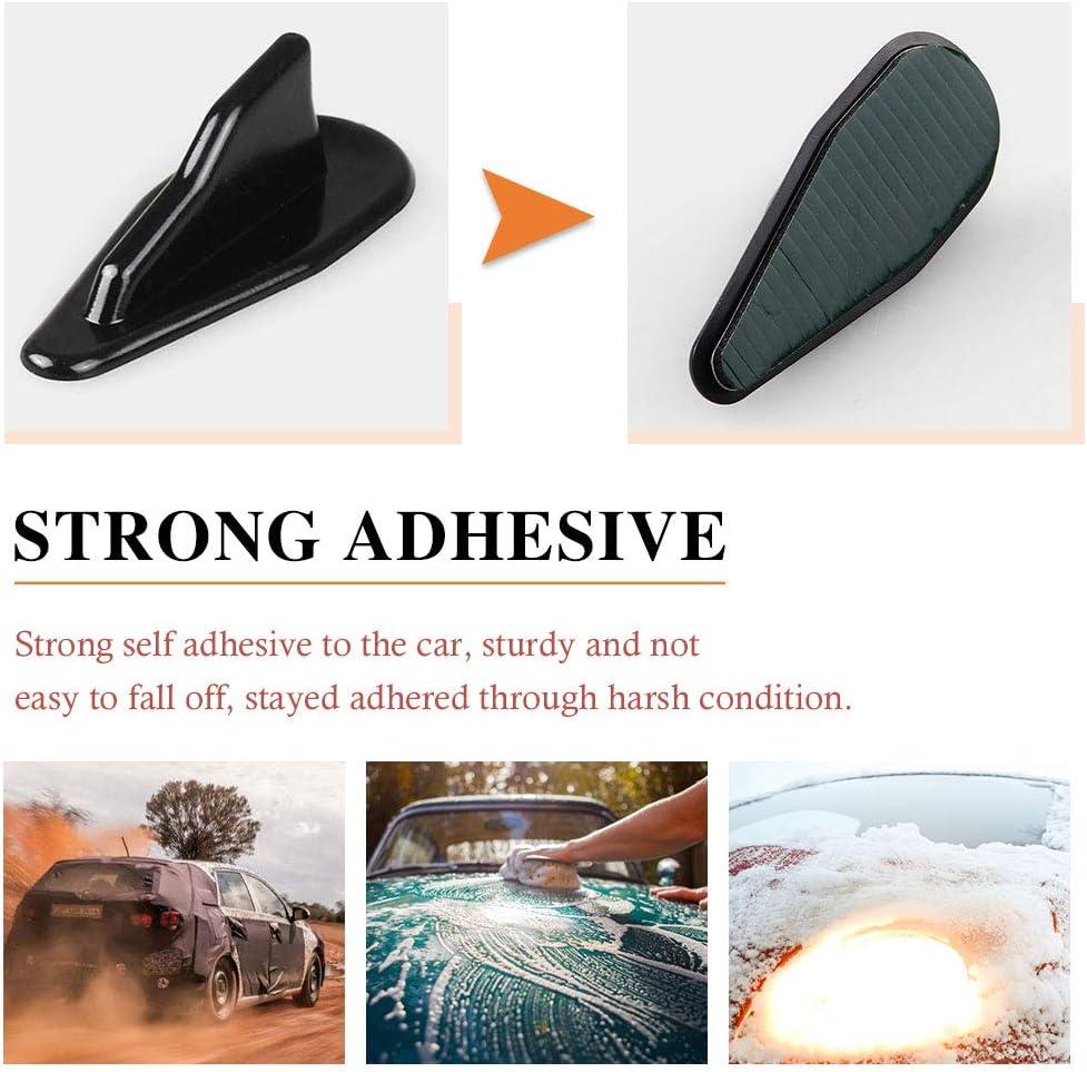 RASNONE Spoiler Roof Wing Air Vortex Generator Diffuser Shark Fin Universal for 10pcs Kit Black