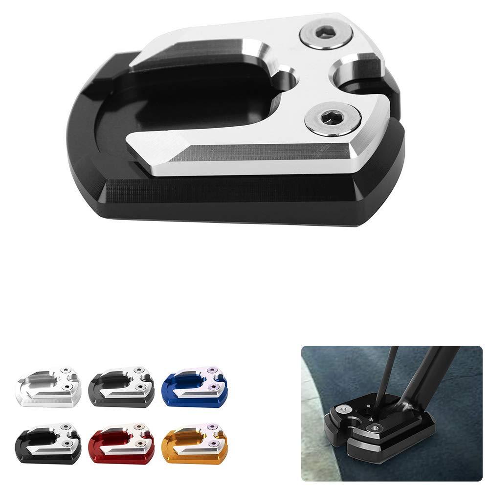 Noir Nouveaux Accessoires de Moto en Aluminium Coussin dextension de B/équille Lat/érale Agrandisseur de B/équille pour Yamaha Xmax 125 250 300